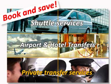 Shuttle bus transfers to the hotel and private transfers to / from Murcia Airport