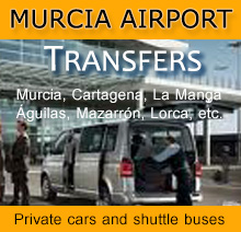 Private transfers and shuttle buses from to Murcia airport